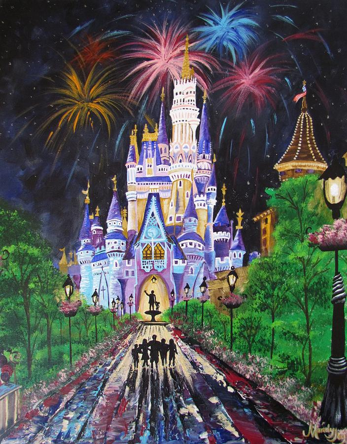 Disney Painting - All Our Dreams Can Come True by Mandy Joy