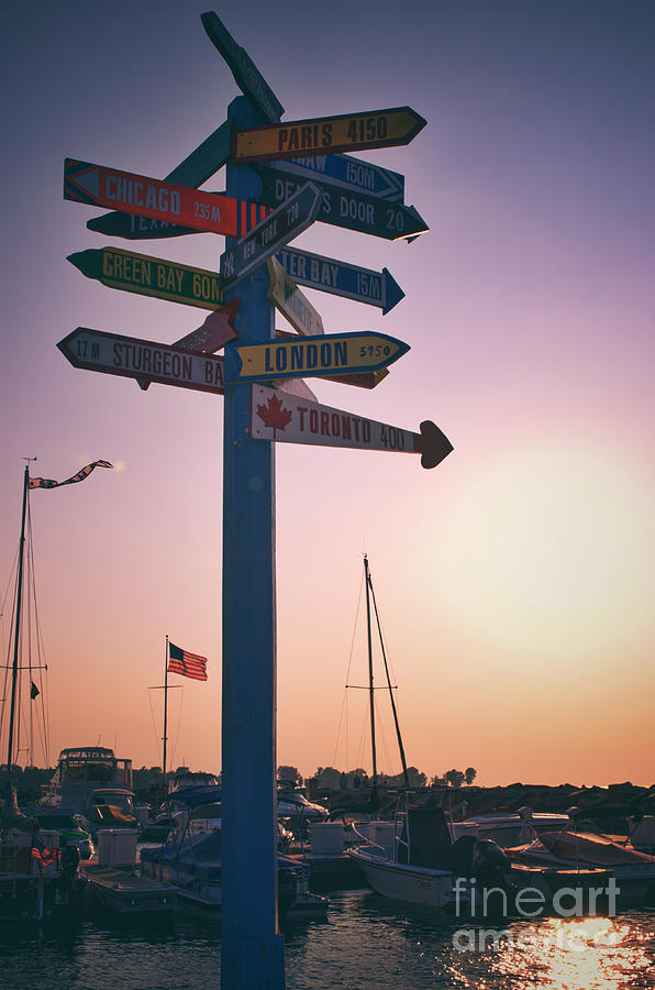 Egg Harbor Photograph - All Signs Point To Sunset by Mark David Zahn Photography