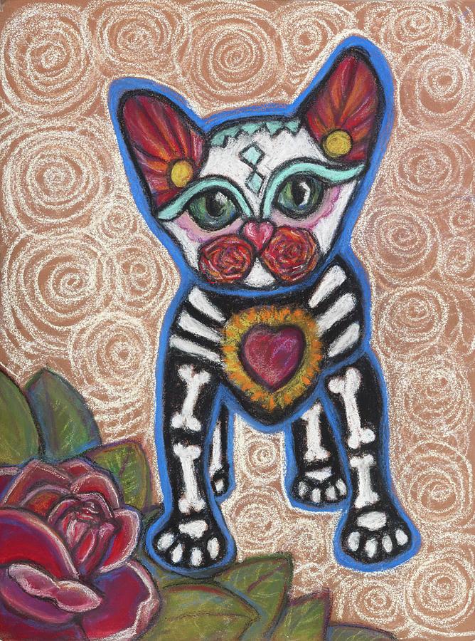 Cat Pastel - All Souls Day Aztec by Ann Hoff