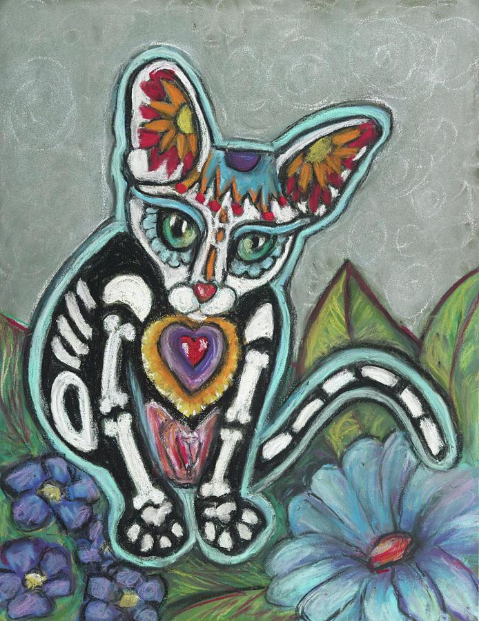 Cat Pastel - All Souls Day Leo by Ann Hoff