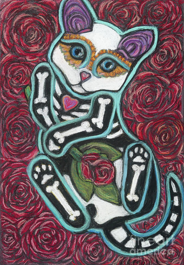 Cat Pastel - All Souls Day Samson by Ann Hoff