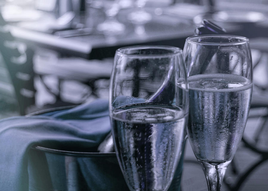 Champagne Photograph - All Sparkling Blue by JAMART Photography