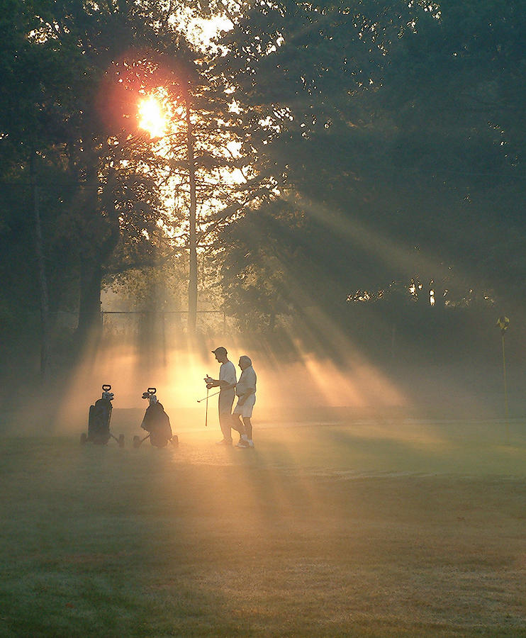 Golfers Photograph - All Square by Edwin Voorhees