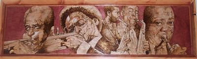 Pyrography Mixed Media - All That Jazz by William Burton Jr