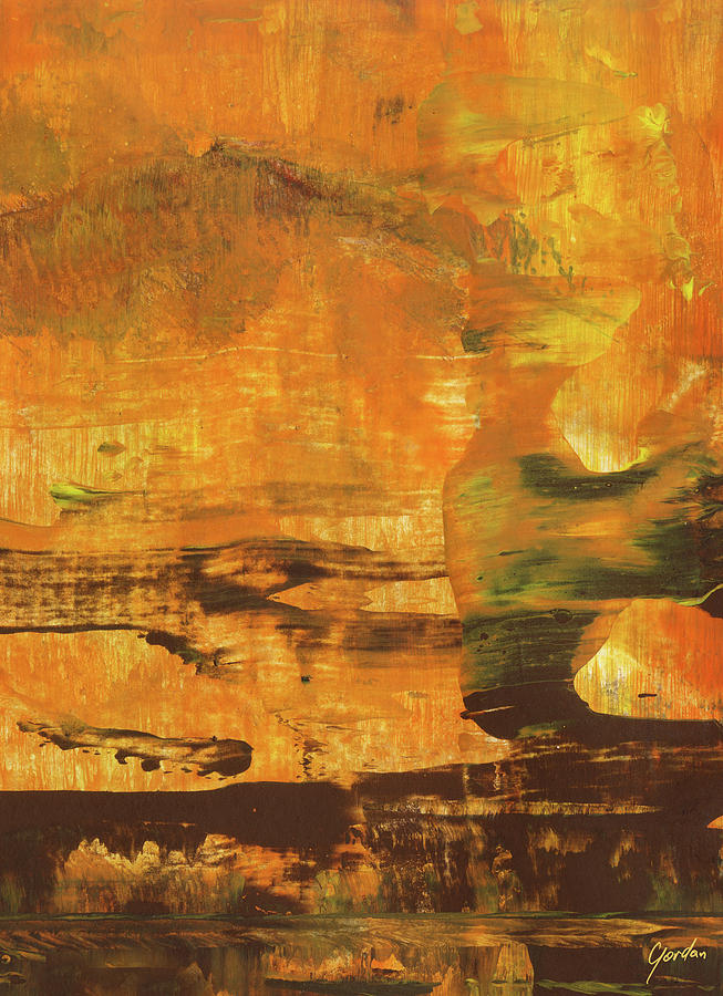 All That You Can Be Warm Orange Spiritual Abstract Art Painting