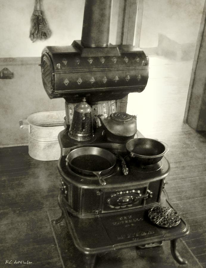 Antiques Photograph - All The Modern Conveniences by RC DeWinter