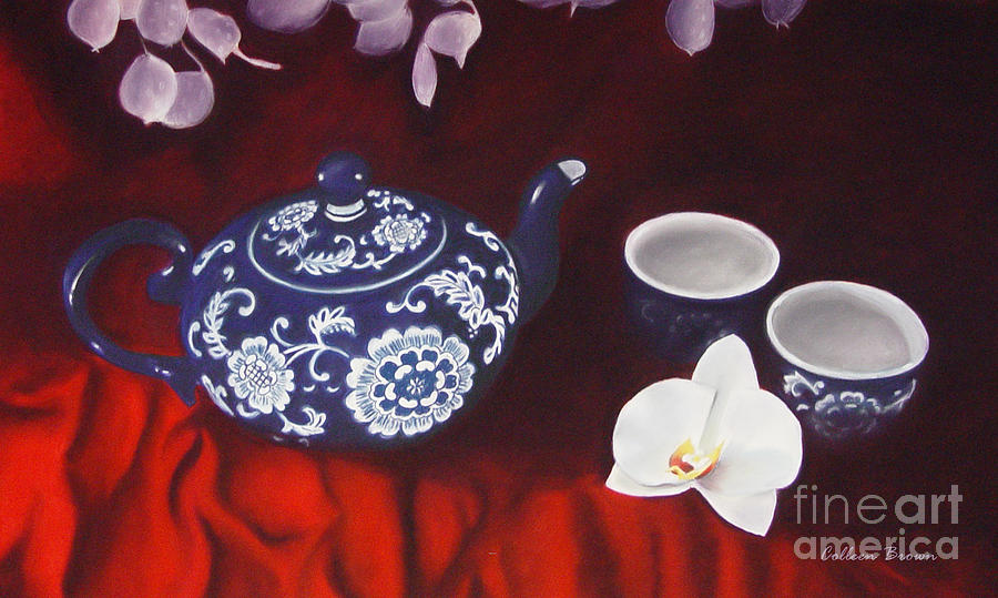 Still Life Painting - All The Tea In China by Colleen Brown