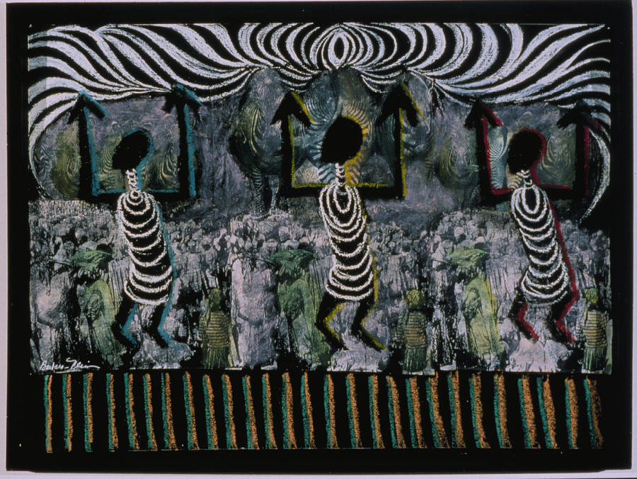Africa Painting - All This Country Belongs To Us by Barbara Nesin