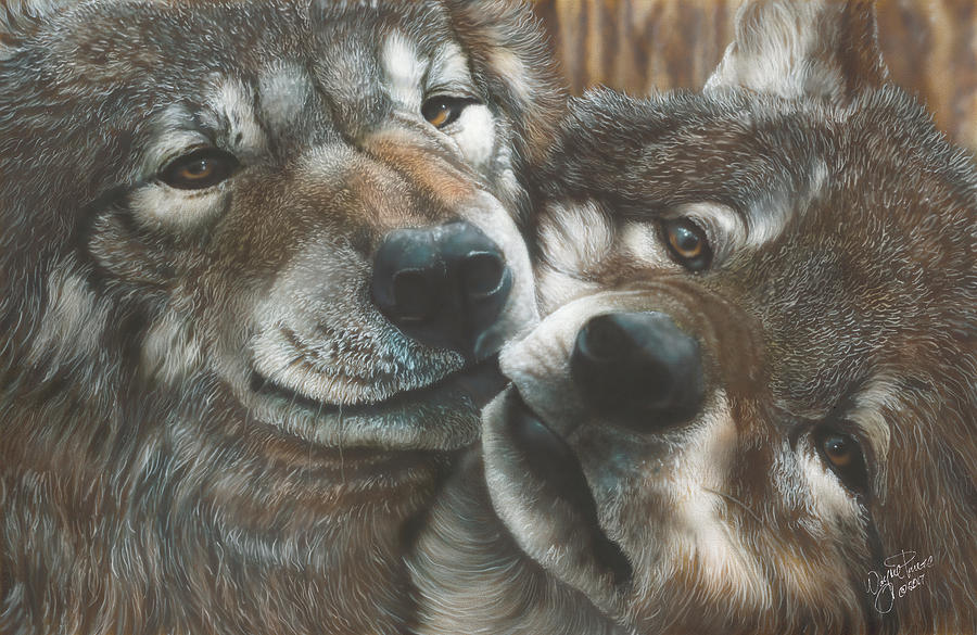 Wolves Painting - All You Need Is Love by Wayne Pruse