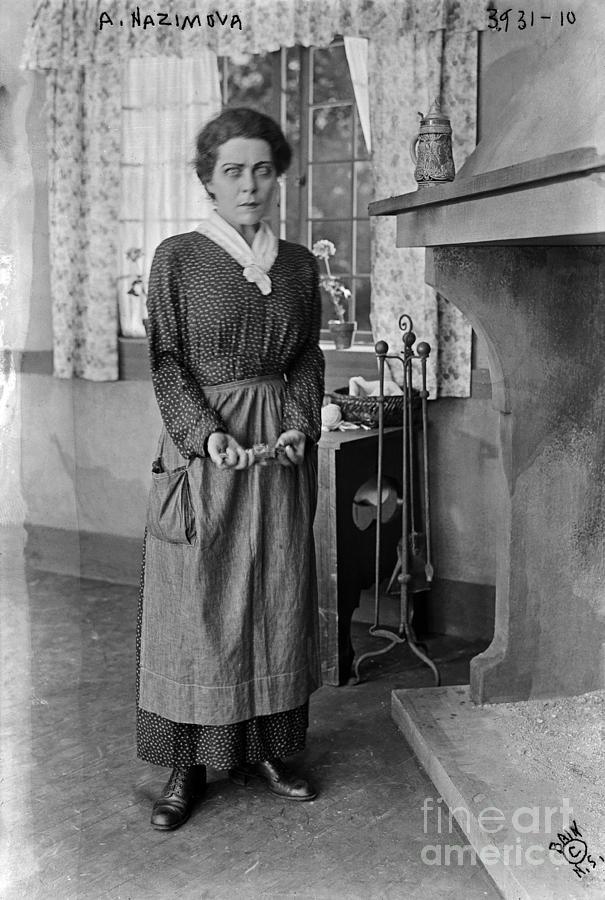Alla Nazimova Photograph - Alla Nazimova War Brides 1916 by Sad Hill - Bizarre Los Angeles Archive