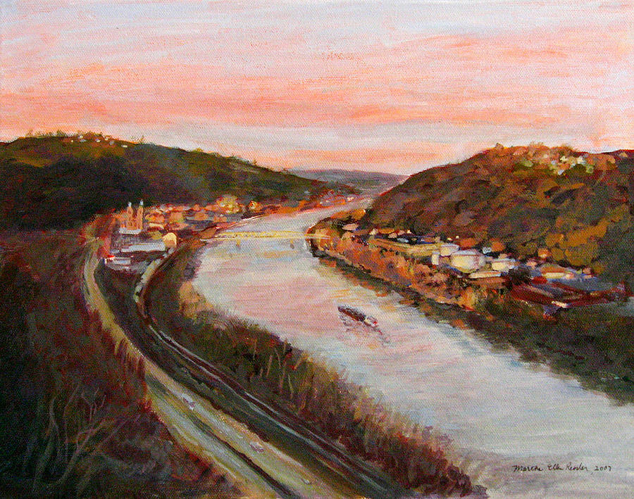 Landscape Painting - Allegheny Valley by Martha Ressler