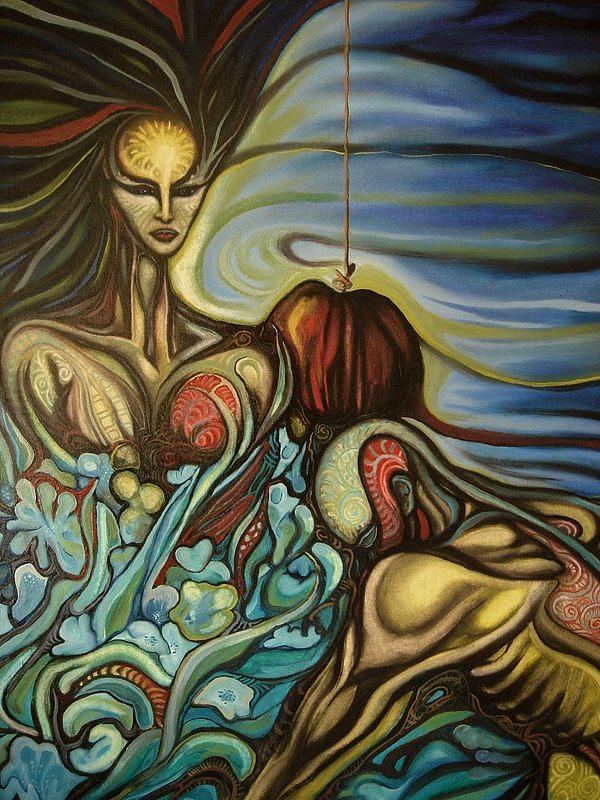 Surreal Painting - Allegiance by Ibrahim Savas Pekdemir