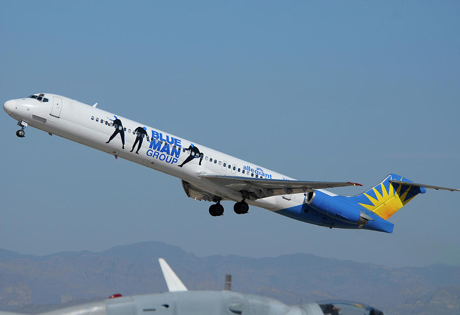Airplane Photograph - Allegiant Air Mcdonnell-douglas Md-83 N408nv Mesa Gateway Airport Arizona March 11 2011 by Brian Lockett