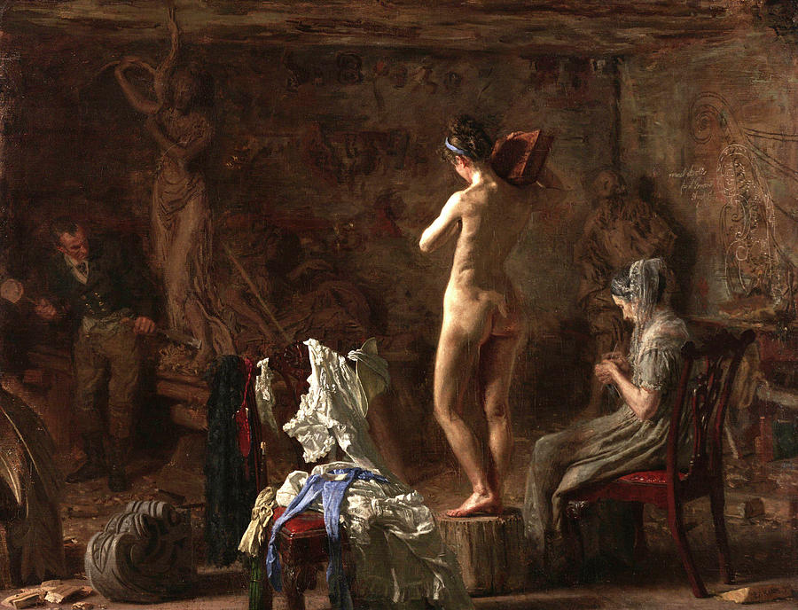 William Rush Painting - Allegorical Figure Of The Schuylkill River by Thomas Eakins