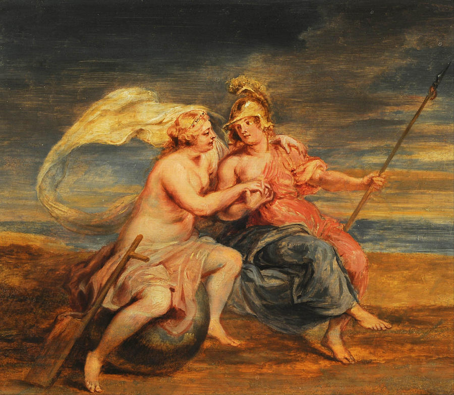 Allegory of Fortune and Virtue Painting by Peter Paul Rubens