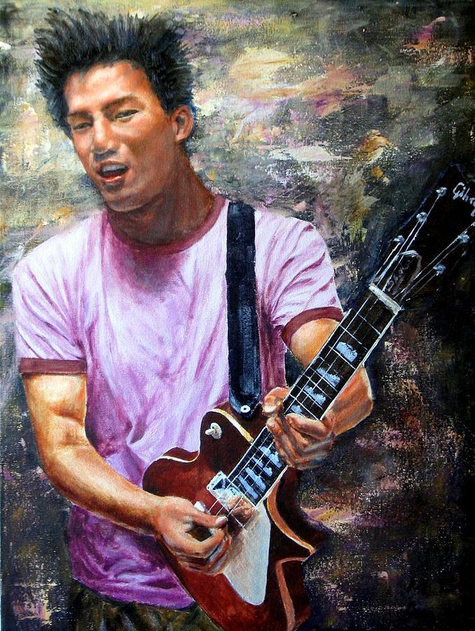 Allen - The Guitar Man Painting by Menq Tsai