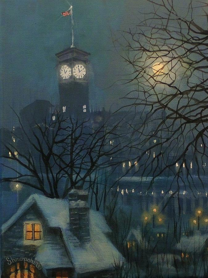 Allen Bradley Clock Milwaukee Painting By Tom Shropshire