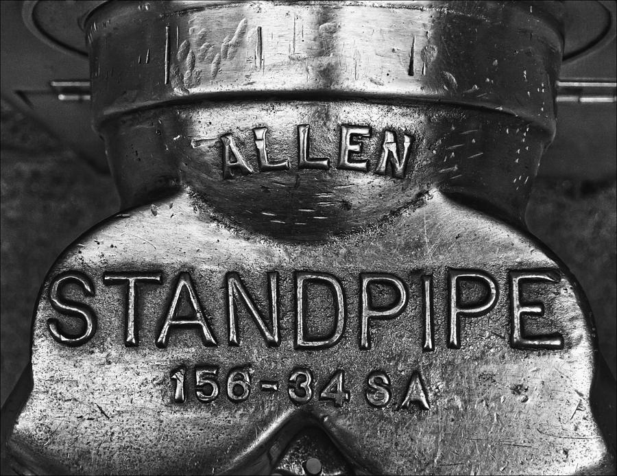 Black And White Photograph - Allen Standpipe by Robert Ullmann