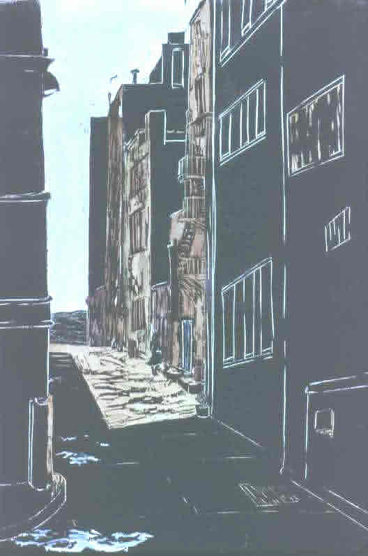 Cityscape Print - Alley by Amy Sadle