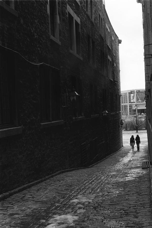 Street Photograph - Alley Of Old Montreal by Emma Switzer