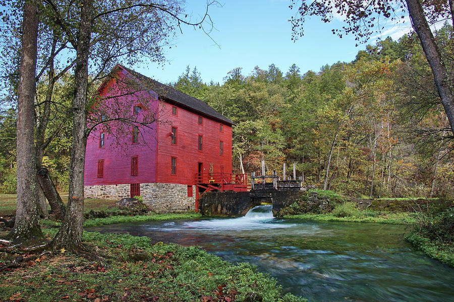 Alley Spring Mill in Fall by Alan Hutchins