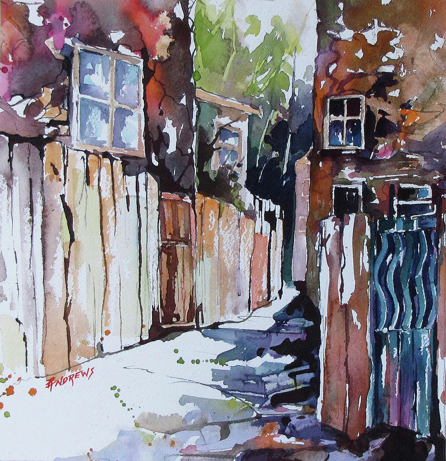 Landscape Painting - Alleyway Passage by Rae Andrews