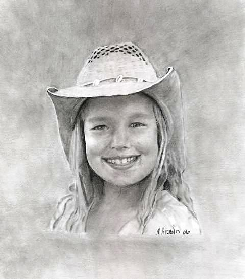 Allie Drawing by Marlene Piccolin