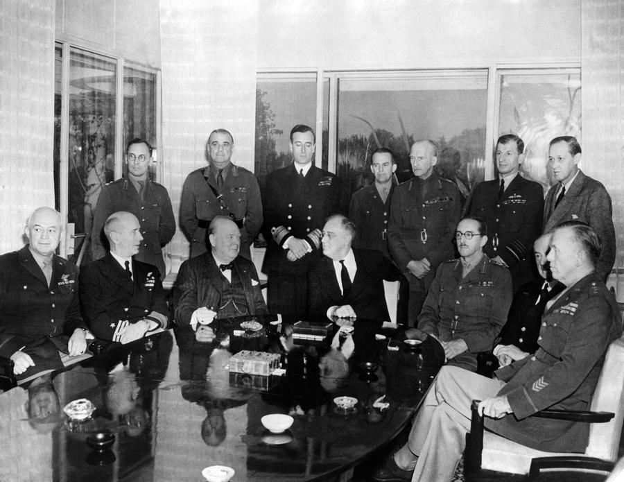 History Photograph - Allied Nations War Strategy Conference by Everett