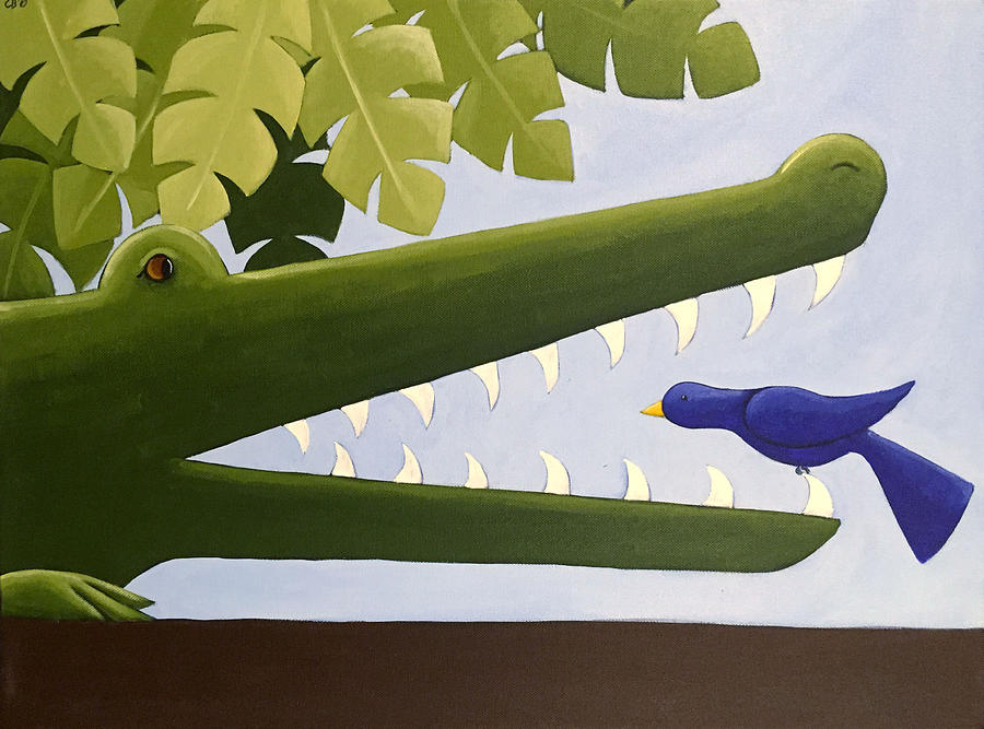 Alligator Nursery Art Painting