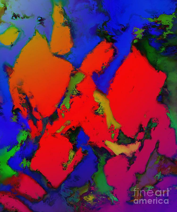 Reds Digital Art - Alligator Red Glow by Keith Mills