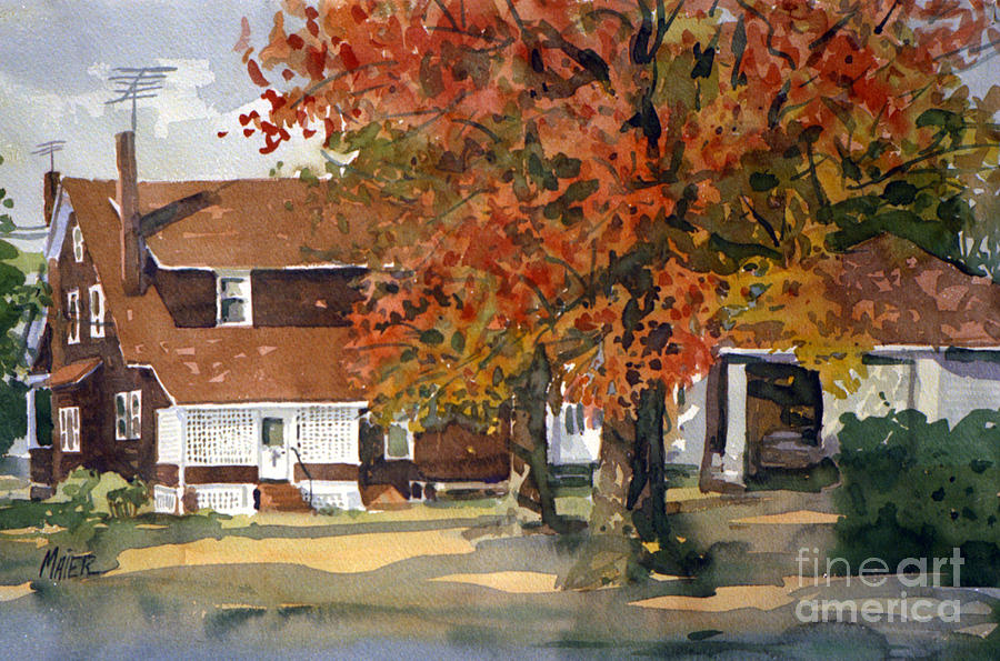 Residence Painting - Allisons House by Donald Maier