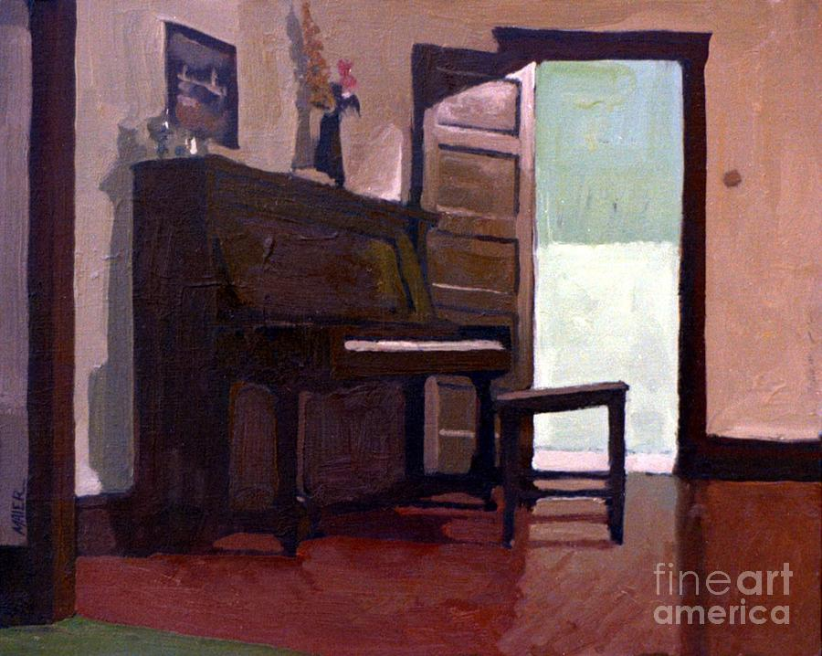 Piano Painting - Allisons Piano by Donald Maier