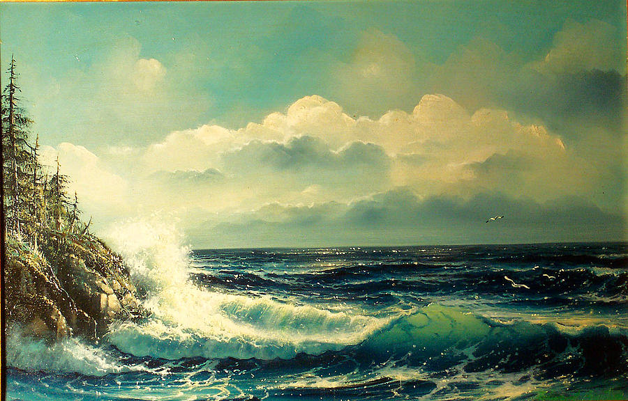 Seascape Painting - Alls Well by Edward Barton