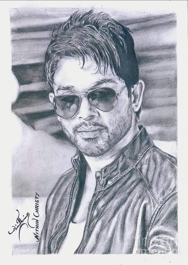 Allu Arjun Drawing By Nithin Christy