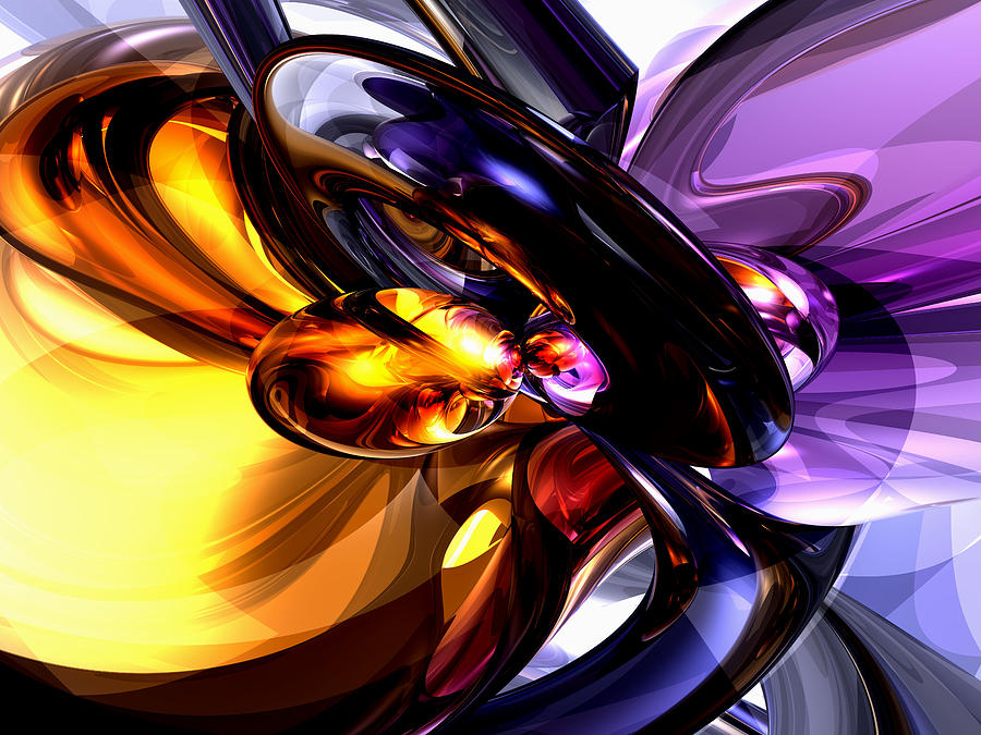3d Digital Art - Alluring Grace Abstract by Alexander Butler