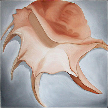 Shell Painting - Alluring Spider Conch by Marian Gliese