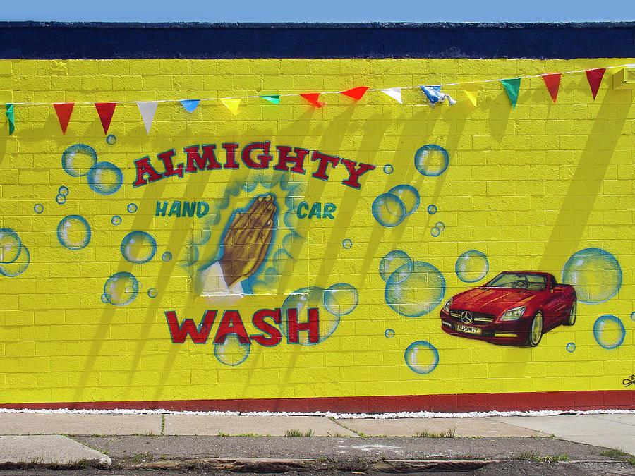 Detroit Digital Art - Almighty Car Wash by David Kyte