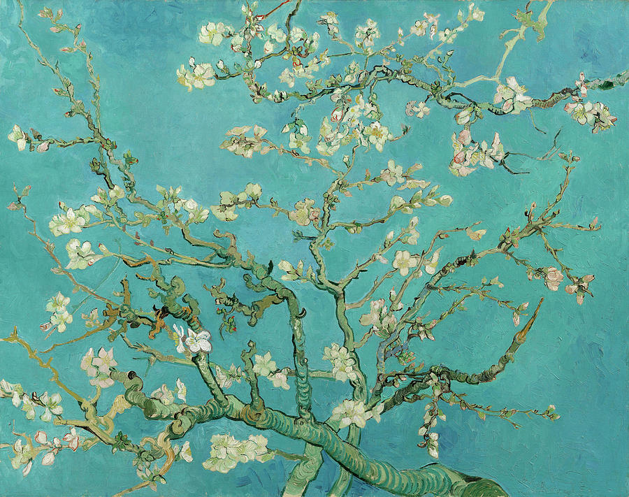Almond Blossom Painting - Almond Blossom, 1890 by Vincent van Gogh
