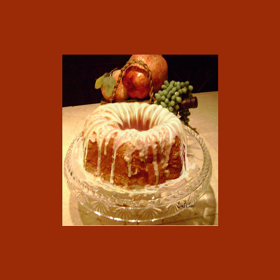 Illustrations Photograph - Almond Cheese Pound Cake by Sena Wilson