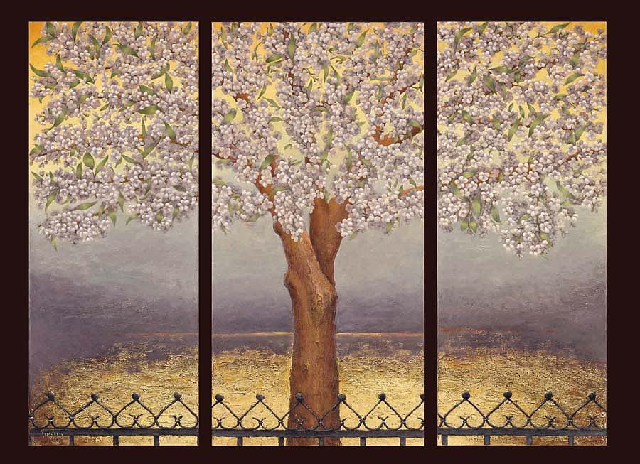 Almond Painting - Almond Tree by Sobobak