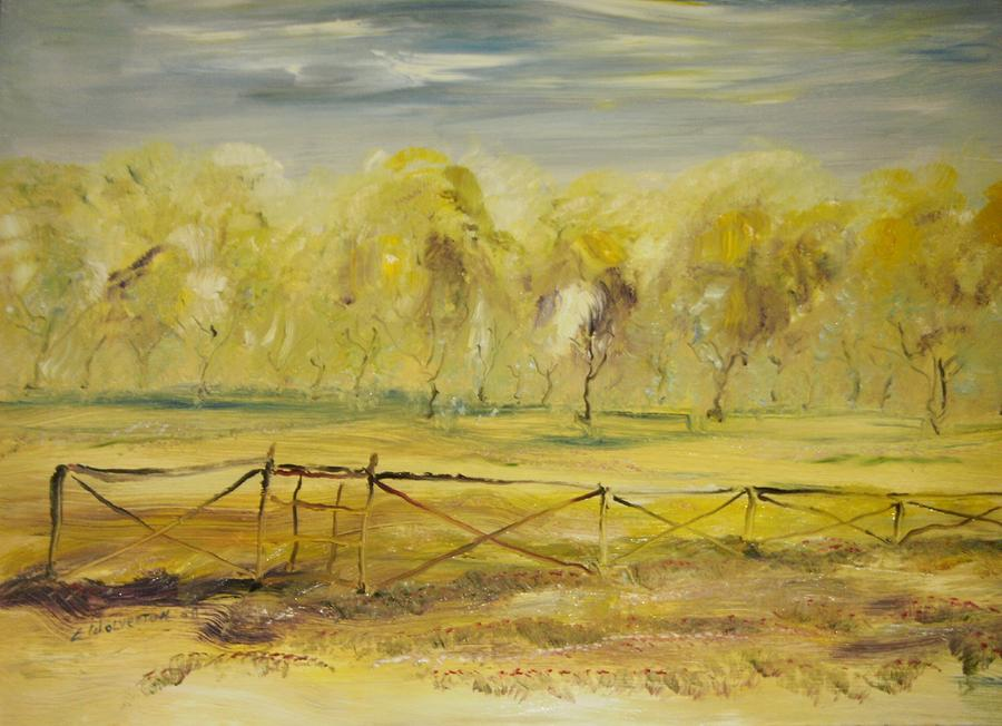 Landscape Painting - Almond Trees In Summer by Edward Wolverton