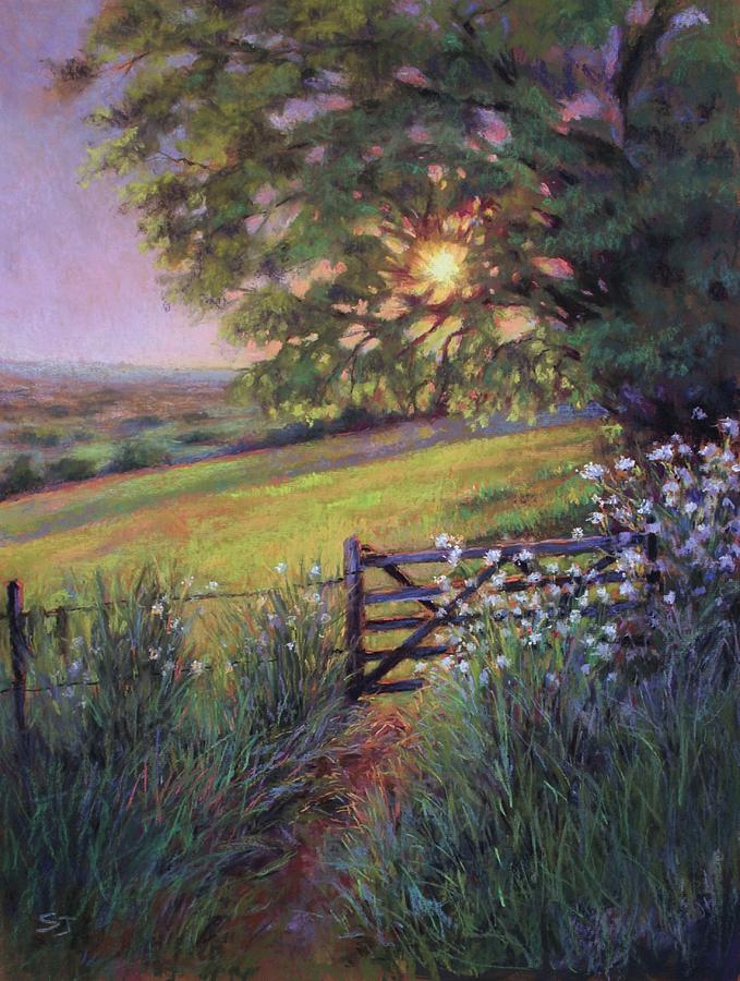 Sunset Painting - Almost Forgotten by Susan Jenkins