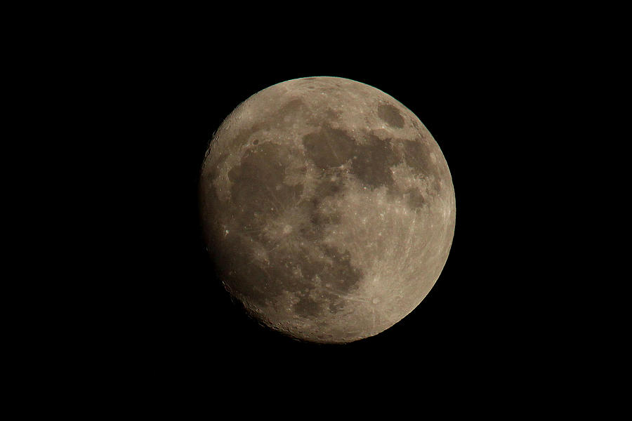 Moon Photograph - Almost Full by Brad Chambers