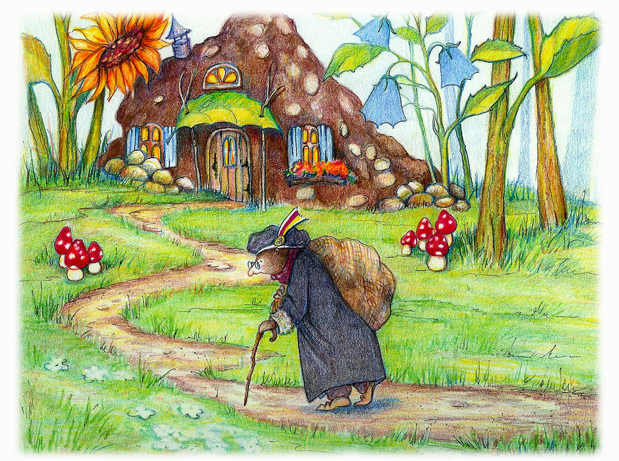 Mole Painting - Almost Home by Peggy Wilson
