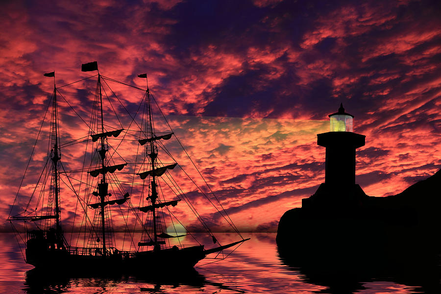 Pirate Ship Photograph - Almost Home by Shane Bechler