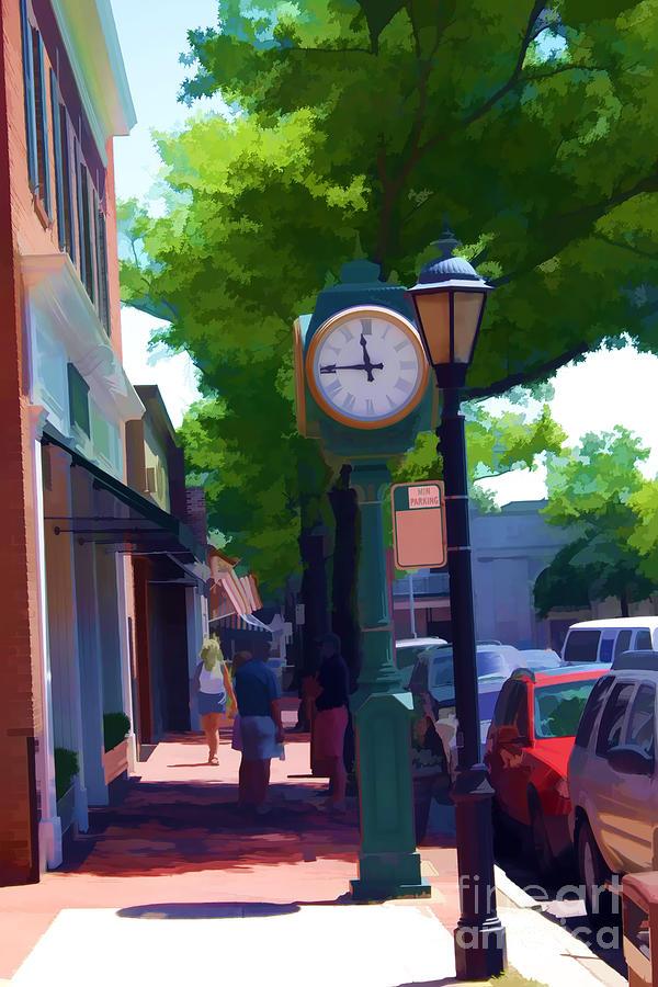 Sidewalk Digital Art - Almost Noon by Christine Segalas