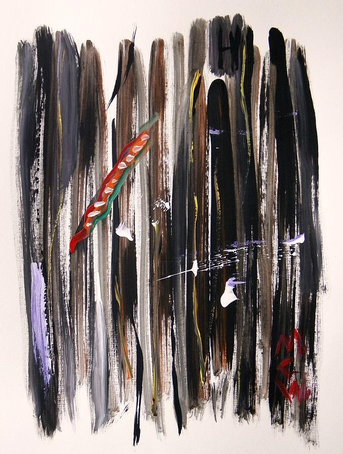 Vertical Painting - Almost Vertical by Mary Carol Williams