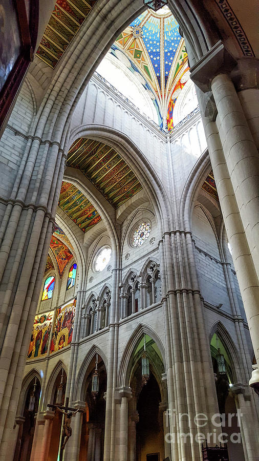 Architecture Photograph - Almudena Cathedral Interior In Madrid by Cesar Padilla