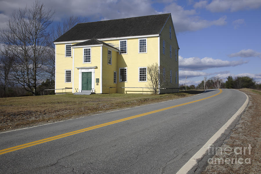 Buildings Photograph - Alna Meetinghouse - Alna Maine Usa by Erin Paul Donovan