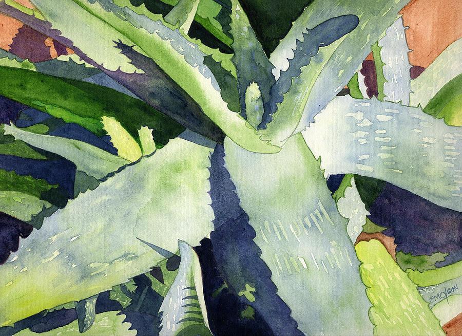 Botanical Painting - Aloe by Eunice Olson